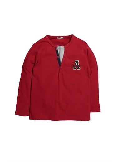 Zeyland Dirsek Yamalı Yaka Detaylı Sweatshirt (5-8yaş) Dirsek Yamalı Yaka Detaylı Sweatshirt (5-8yaş) Kırmızı